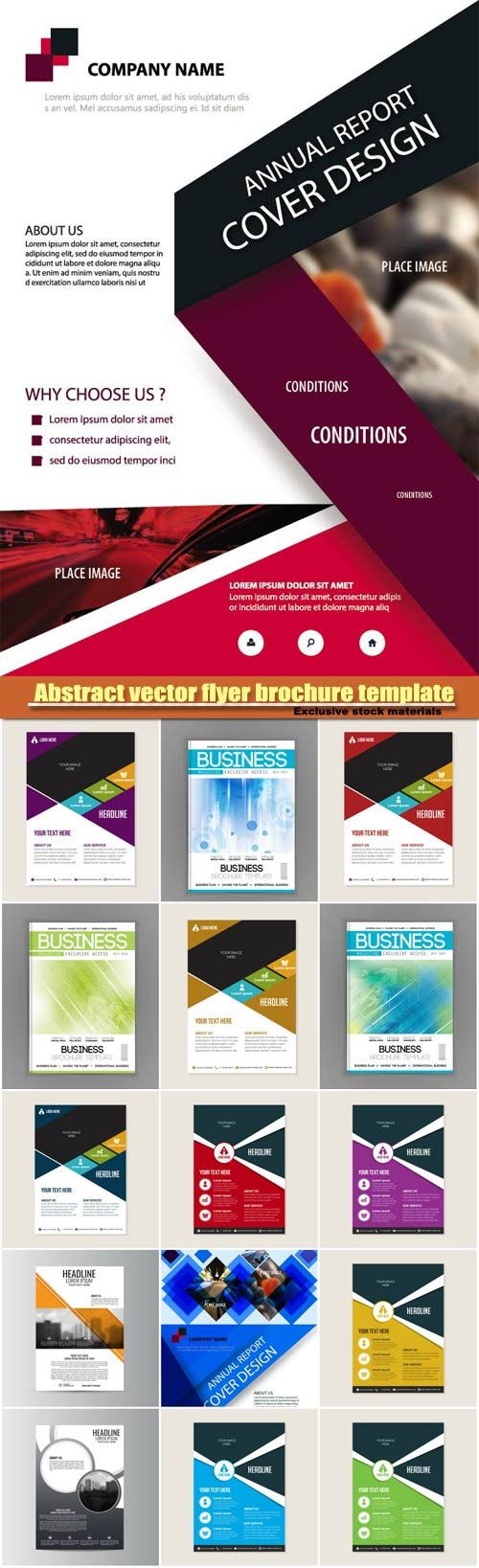 Abstract vector flyer brochure template design background