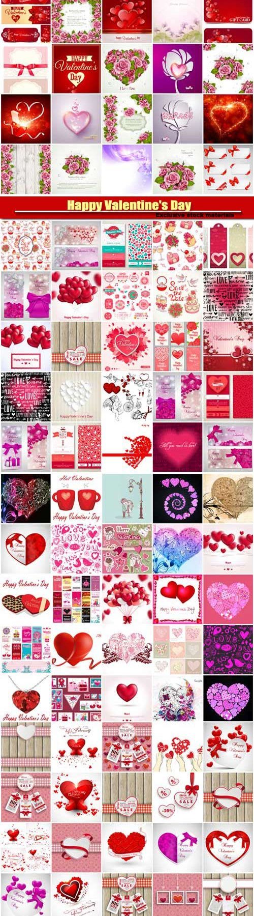 Big collection of vector festive Valentine's Day #2