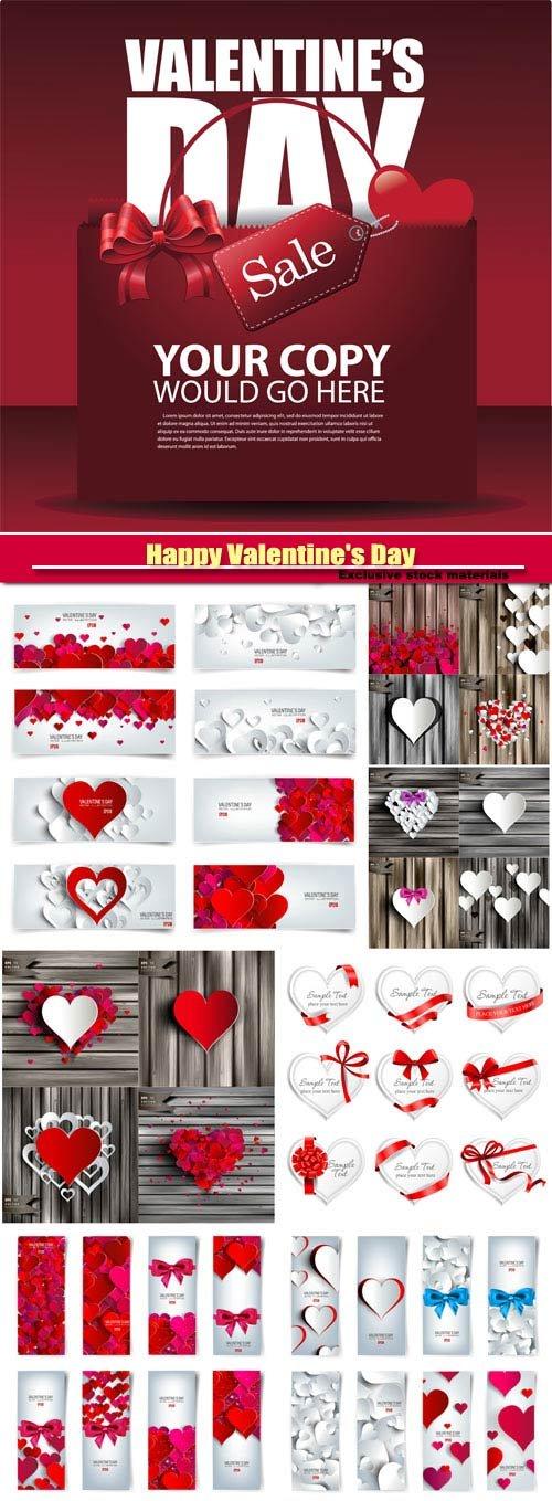 Happy Valentine's Day vector, hearts, romance, love #27