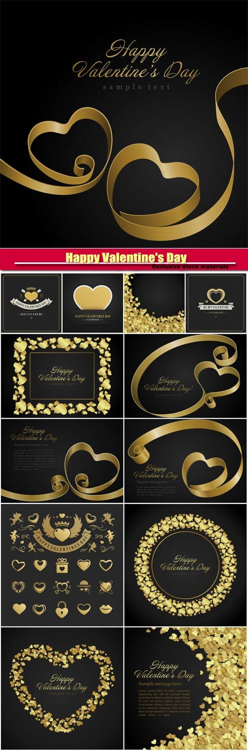 Happy Valentine's Day vector, hearts, romance, love #26