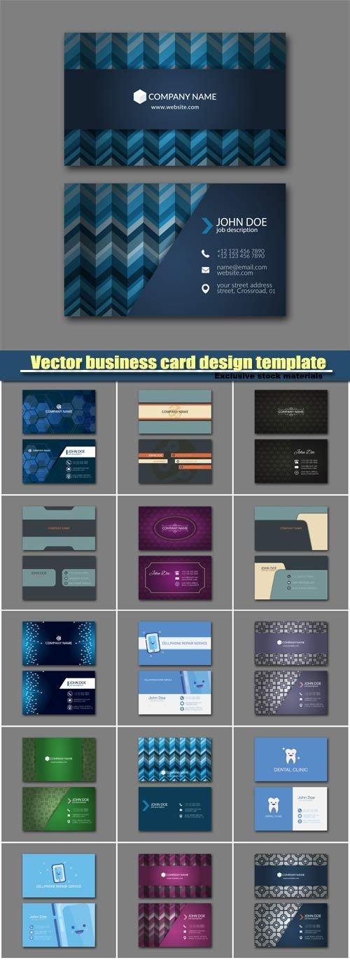 Векторный клипарт Stylish vector business card design template