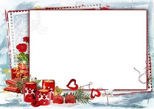 Рамка для фотошоп - Наш зимний праздник