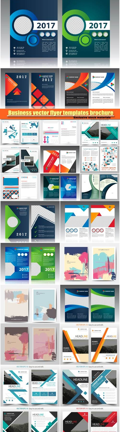 Business vector flyer templates brochure
