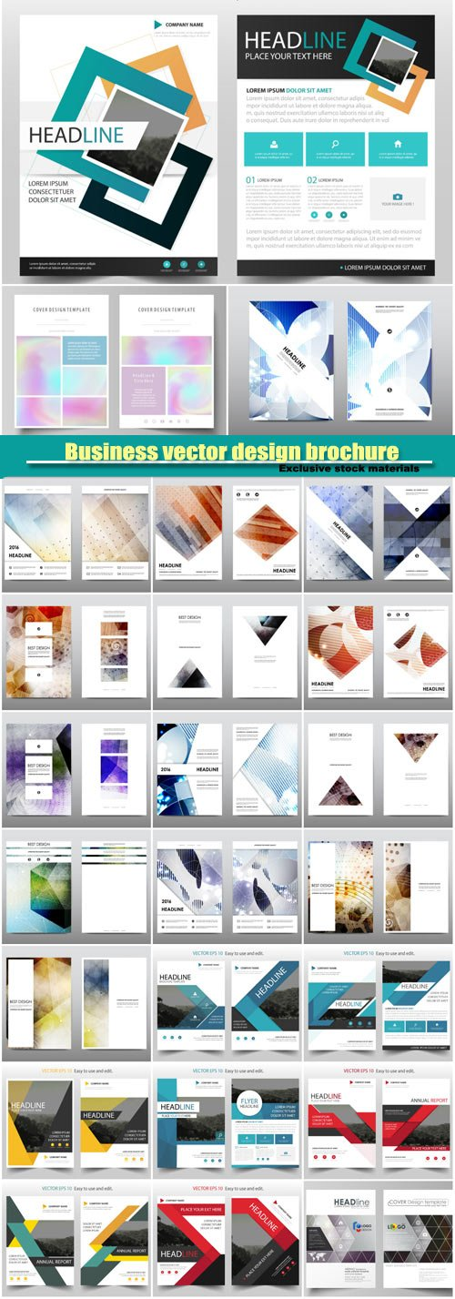 Business vector design brochure, flyer template, card creative design