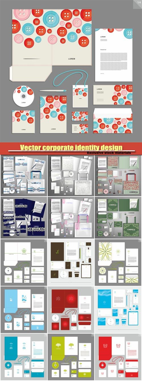 Vector corporate identity design, style for brandbook and guideline