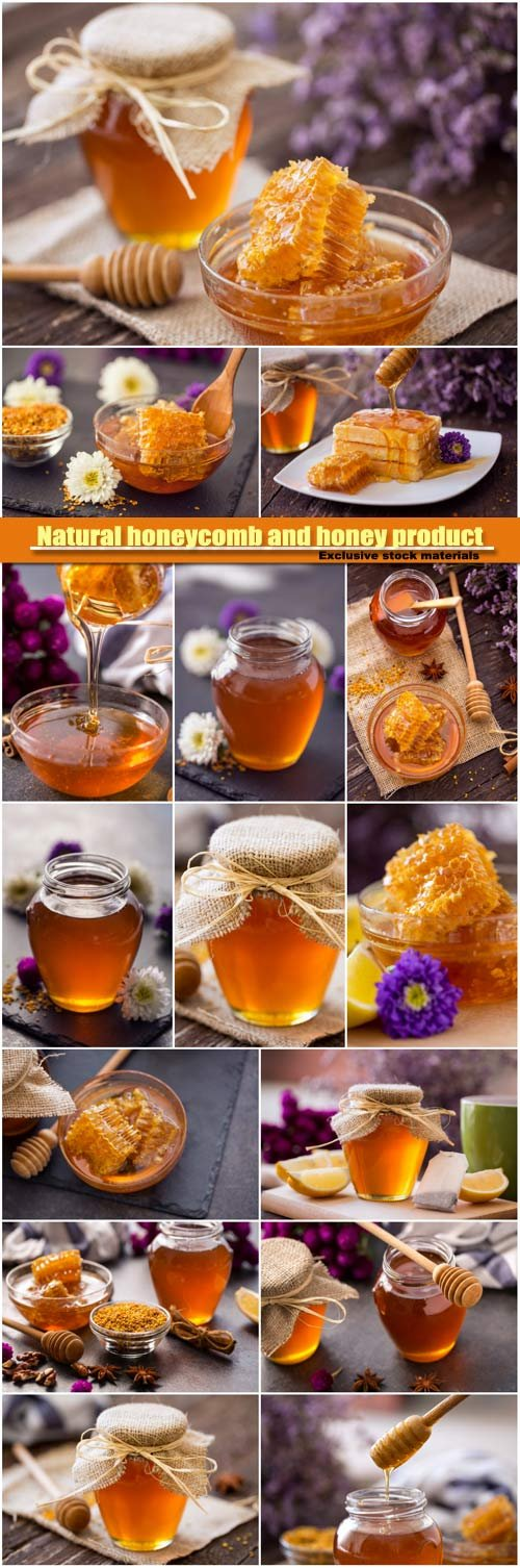 Natural honeycomb and honey product of bee