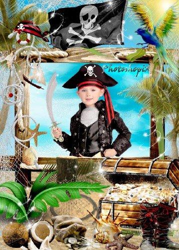 Детская рамка для фото - Пираты вперед!