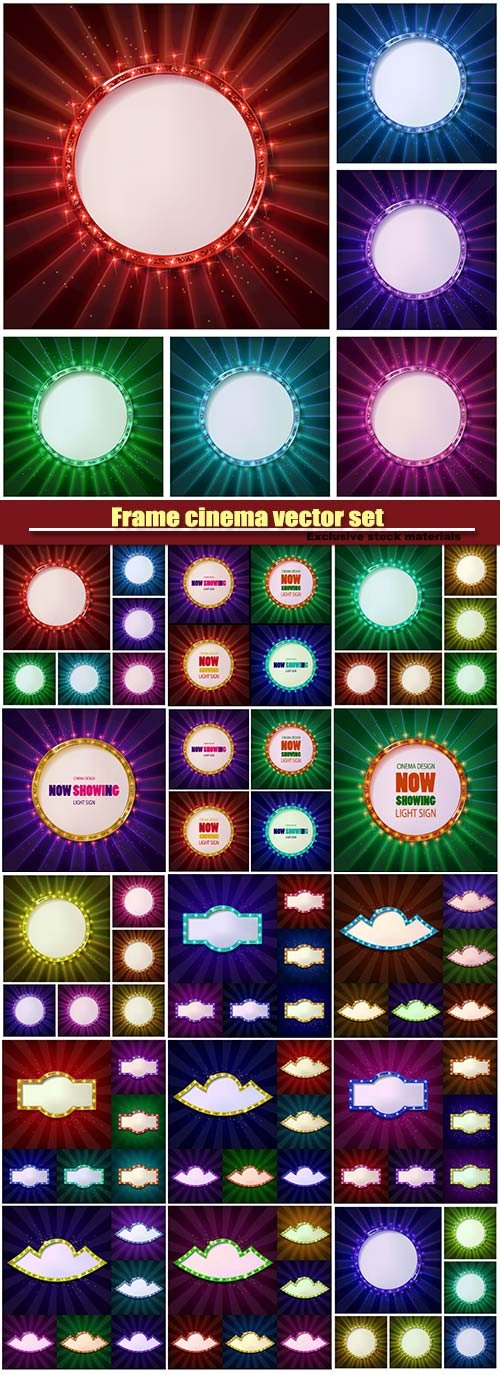 Frame cinema vector set