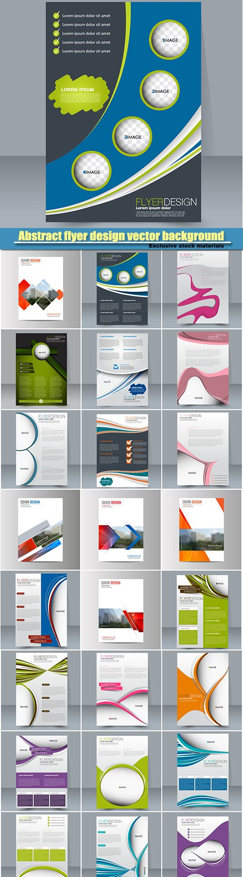 Abstract vector flyer design background, brochure template, magazine cover