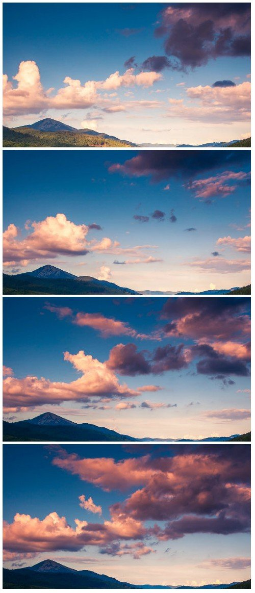 Video footage Majestic mountain landscape with colorful cloud
