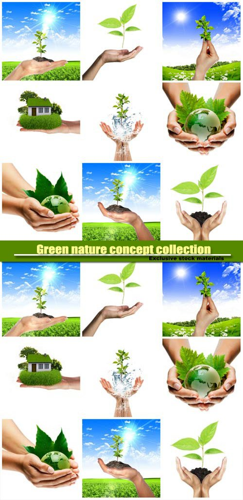Green nature concept collection