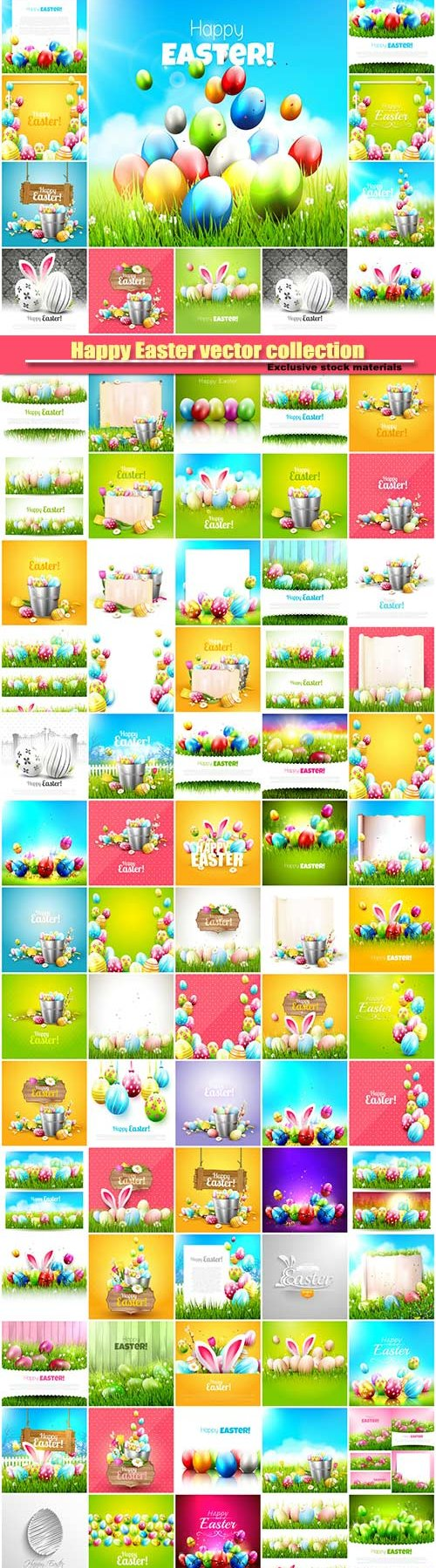Happy Easter vector collection