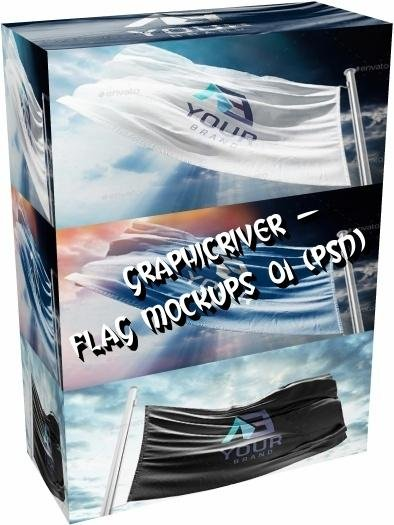 GraphicRiver - Flag Mockups 01