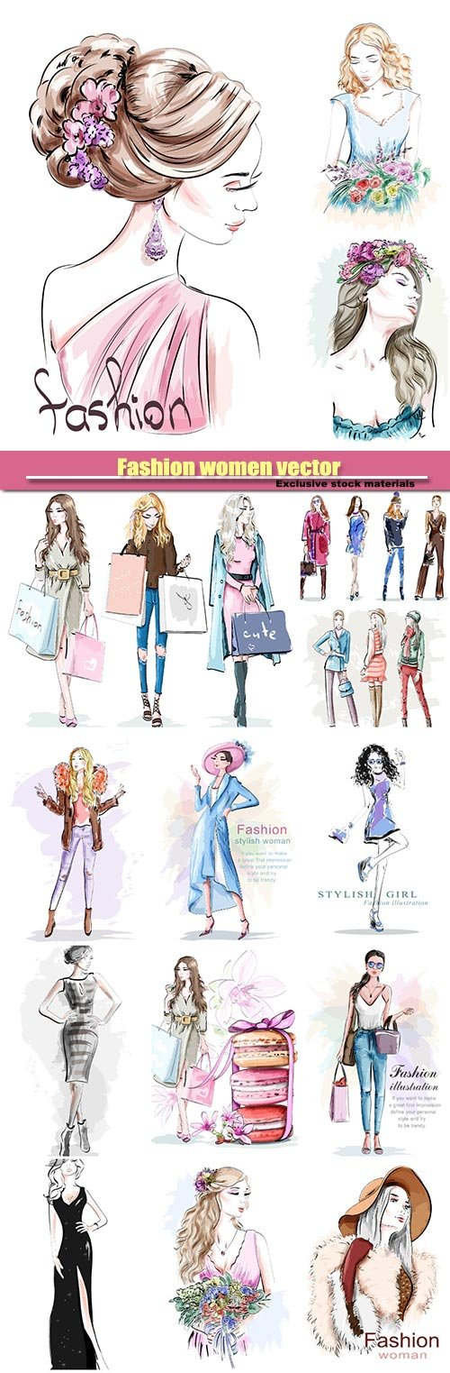 Fashion women vector №1