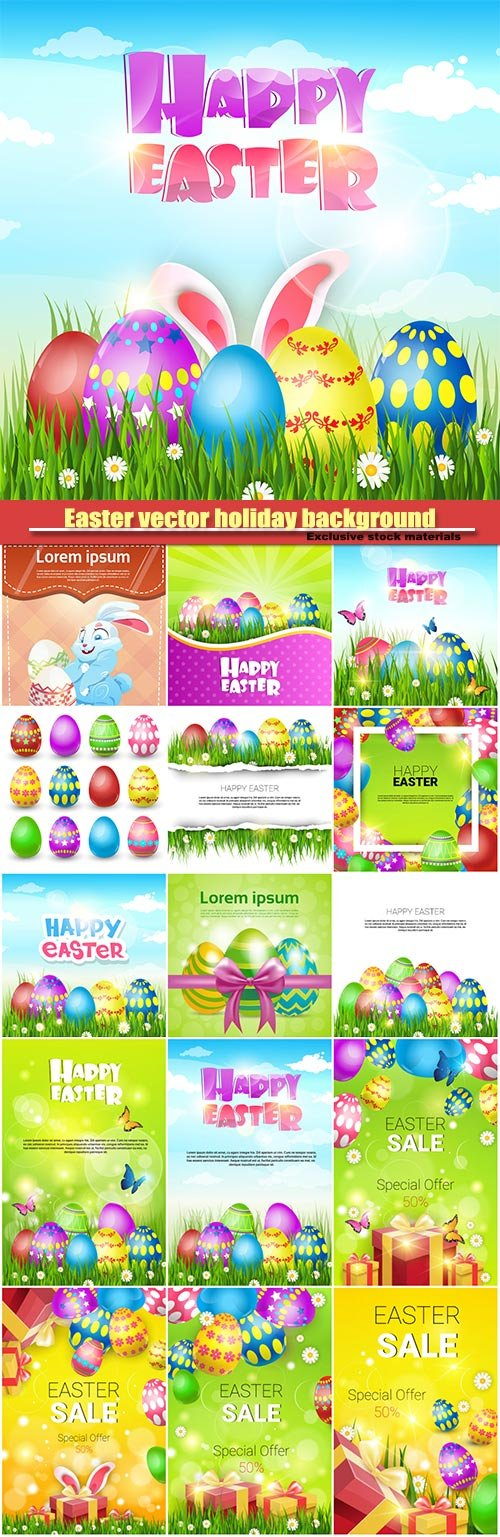 Easter vector holiday background illustration
