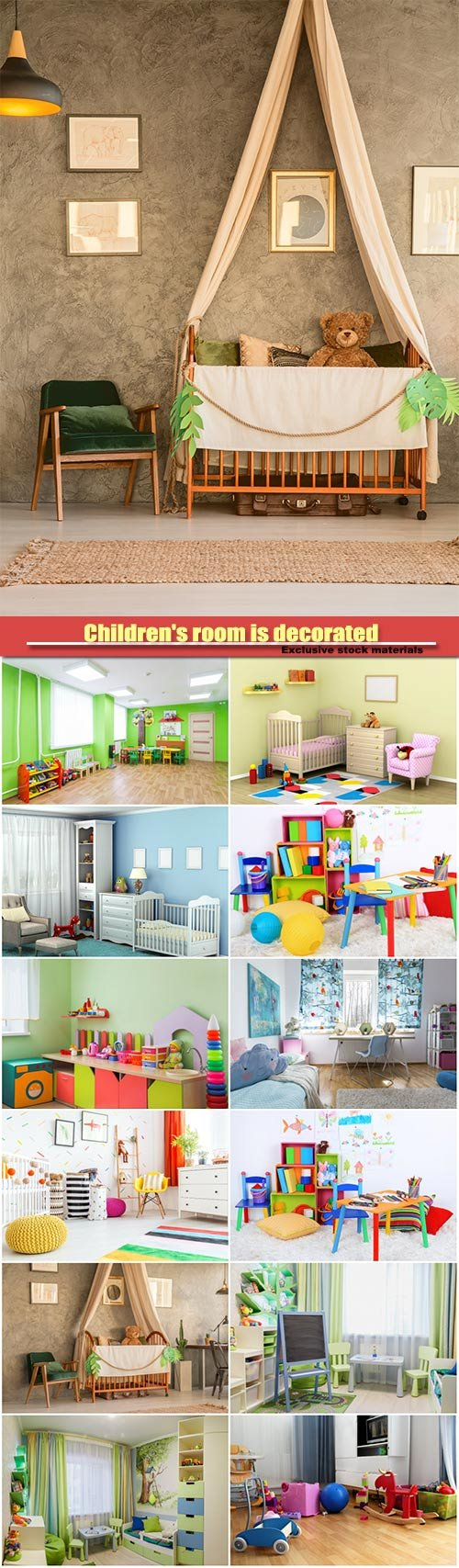Children's room is decorated