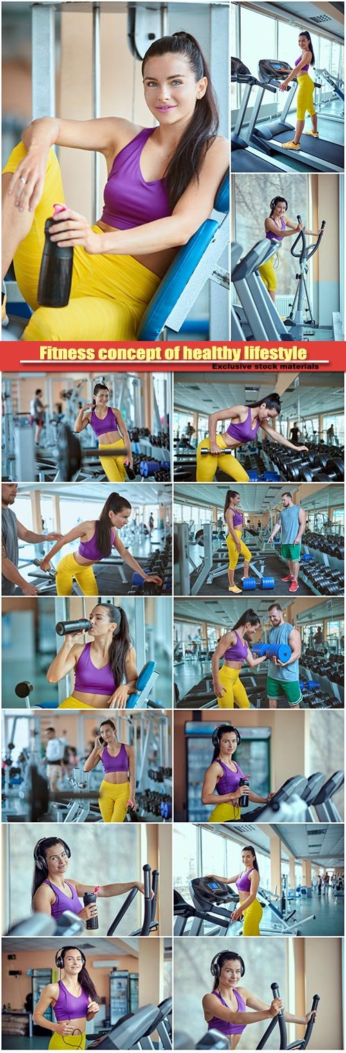 Fitness concept of healthy lifestyle, perfect fitness body