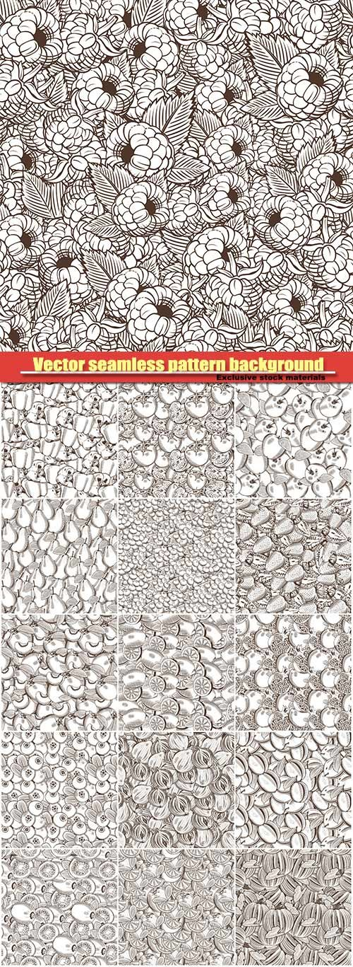 Vector seamless pattern background in vintage style