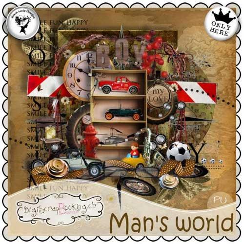 Скрап набор - Мужской мир