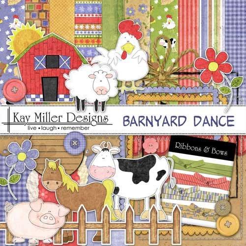 Детский скрап набор - Barnyard Dance