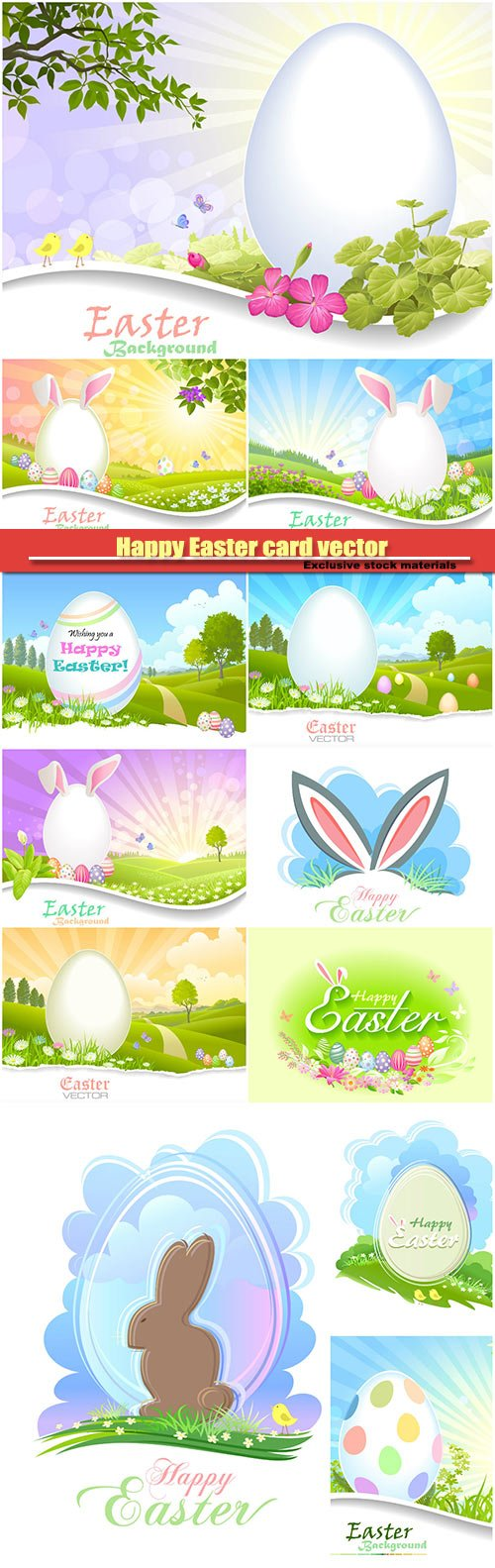 Happy Easter card vector background