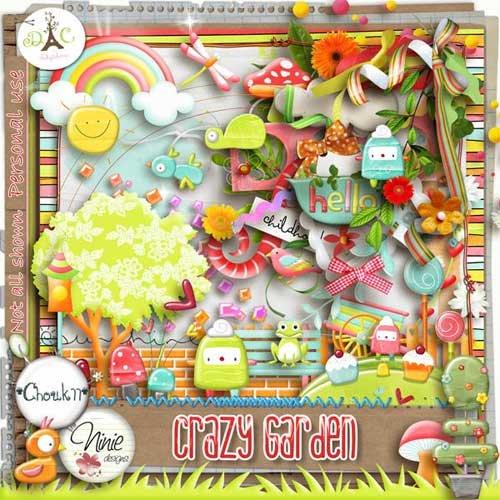 Детский скрап набор - Crazy Garden