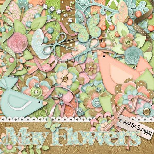 Скрап набор - Майские цветы