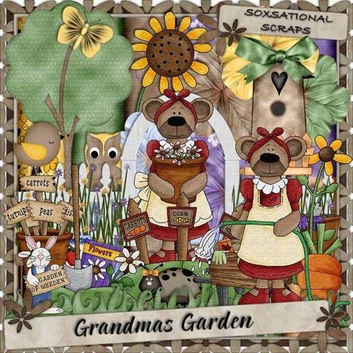 Детский скрап набор - Бабушкин сад
