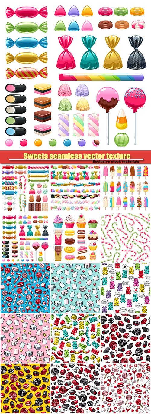 Sweets seamless vector texture