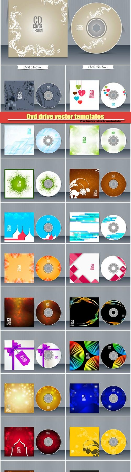 Dvd drive vector templates