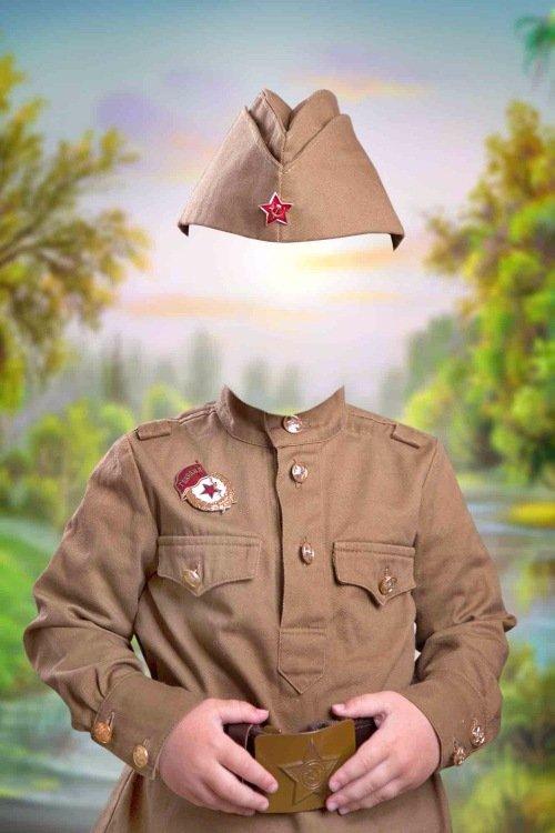 Военный шаблон для мальчиков - Красногвардеец