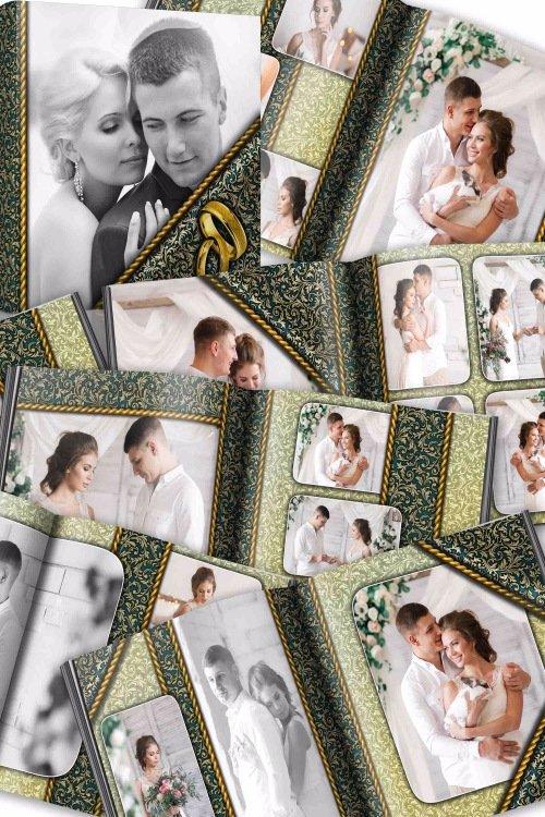 Свадебно-романтическая фотокнига - Роскошь