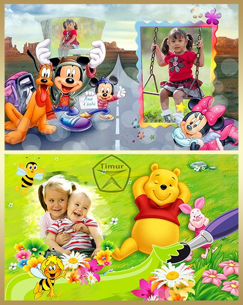 Детские рамки для фото - Мультики