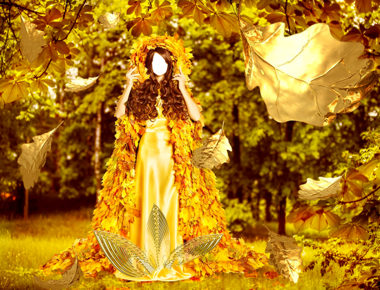 Вставить лицо - Золотая осень