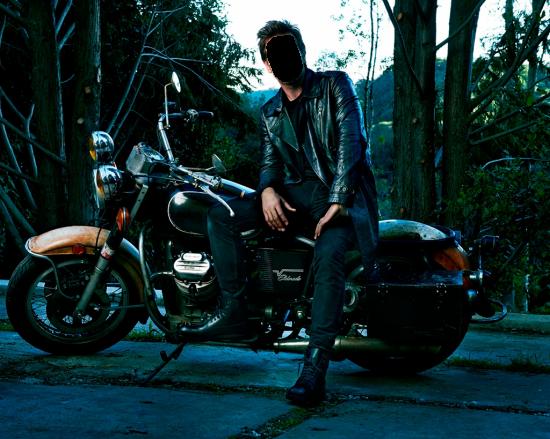 Вставить лицо - Мужчина на мотоцикле