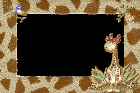 Вставить фото в рамку - Жираф