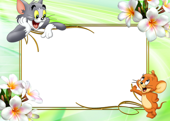 Вставить фото в рамку - Том и Джери
