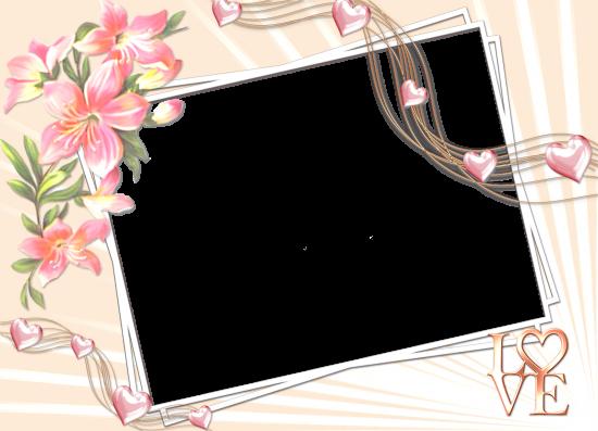 Вставить фото в рамку - Love