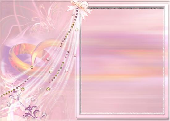 Вставить фото в рамку - Свадебная