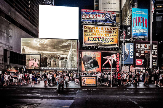Вставить фото в рамку - Таймс-сквер
