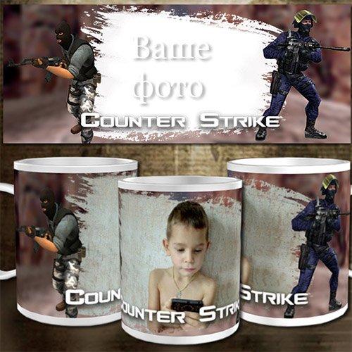 Шаблон для кружки - Подарок игроку Counter-Strike
