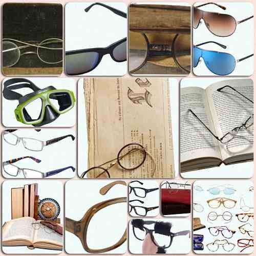 Новые клипарты - Очки разных типов