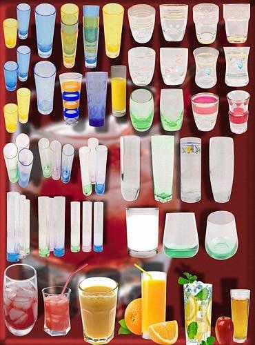 Растровые клипарты - Стеклянные стаканы