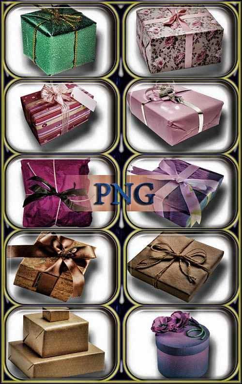 Растровые клипарты - Подарочные упаковки