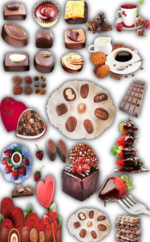 Новые клипарты Png - Шоколад, шоколадные конфеты