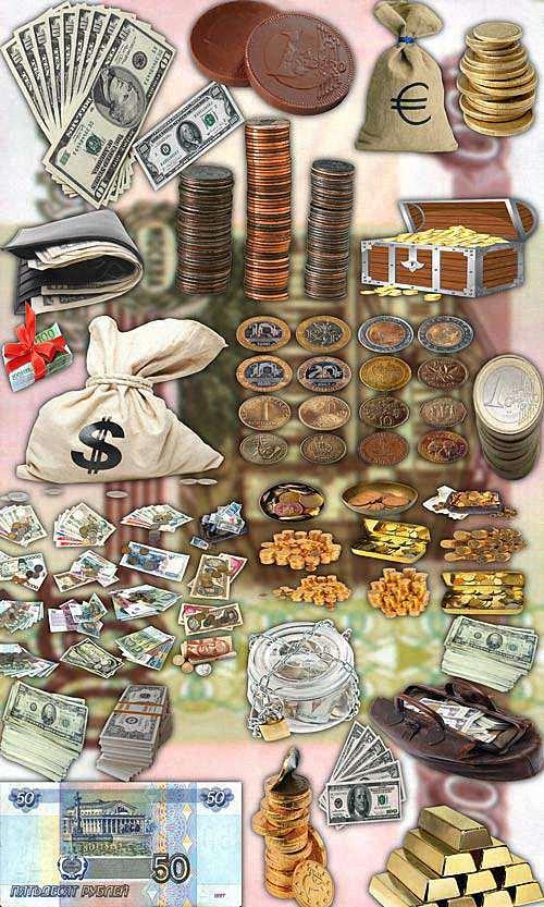Фотошоп Png клипарты - Мировые деньги