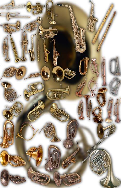 Фотошоп Png клипарты - Духовые инструменты