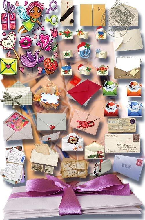 Png на прозрачном фоне - Письма и конверты