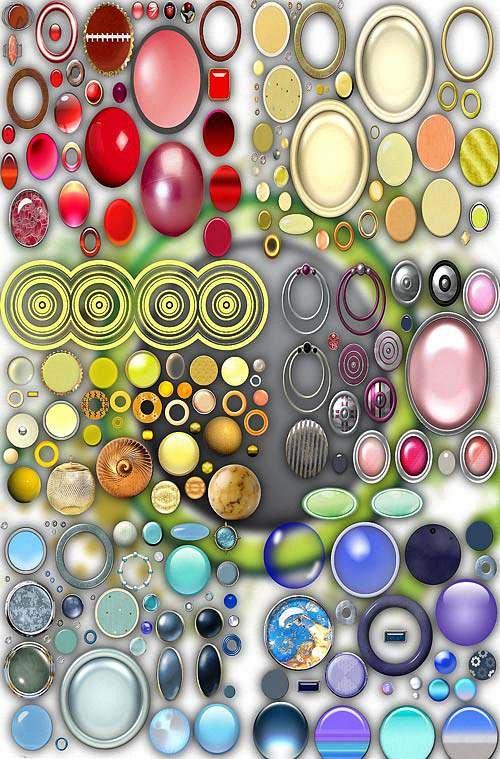Клипарты png - Разноцветные круги
