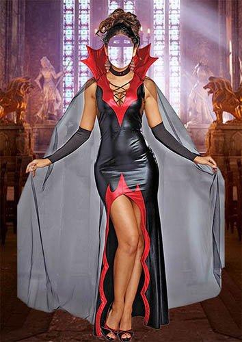 Женский шаблон для фотошопа - Прекрасная вампирша
